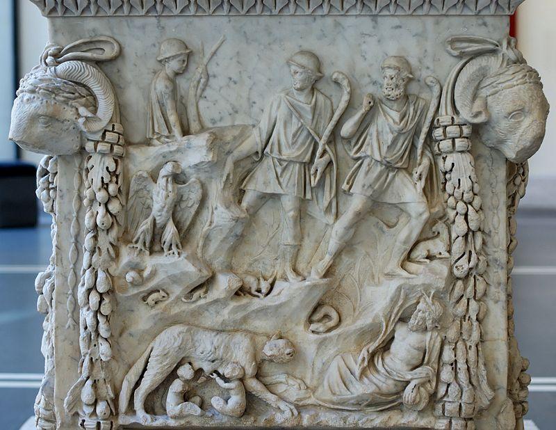 Remus i Romulus karmieni przez Wilczycę w grocie Luperkal na Palatynie