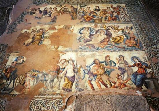 Mozaika z triclinium Domu Aiona