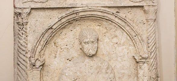 Roman tomb stele from Sirmium