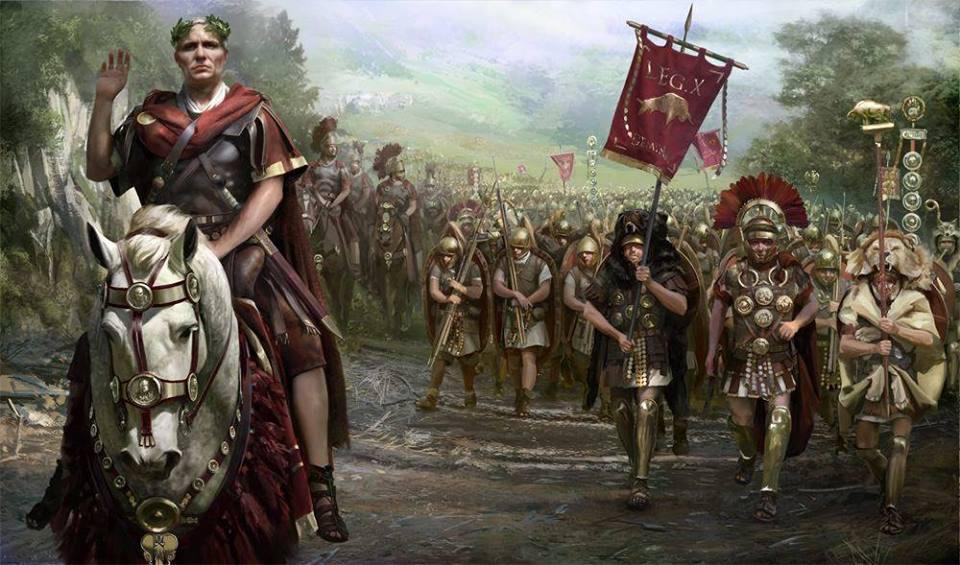 Marsz Cezara i wojsk