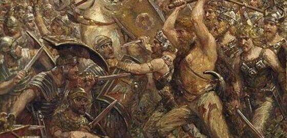 """""""Bitwa na bagnach"""" z 235 r. n.e."""