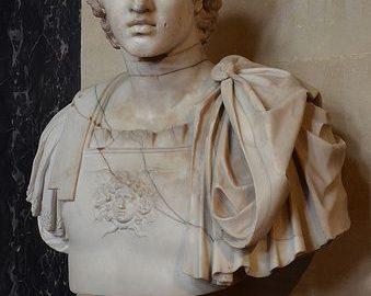 Rzymskie popiersie Aleksandra Wielkiego