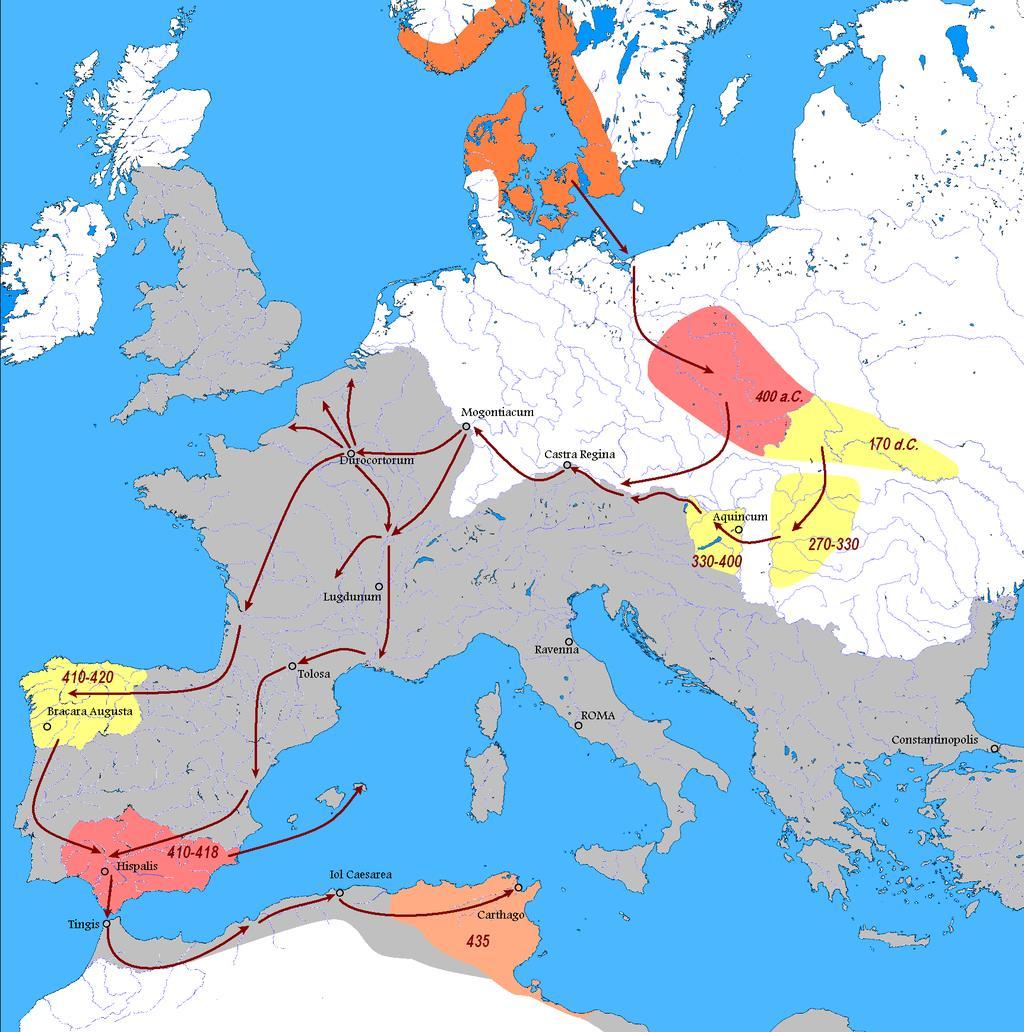 Kierunek migracji Wandalów