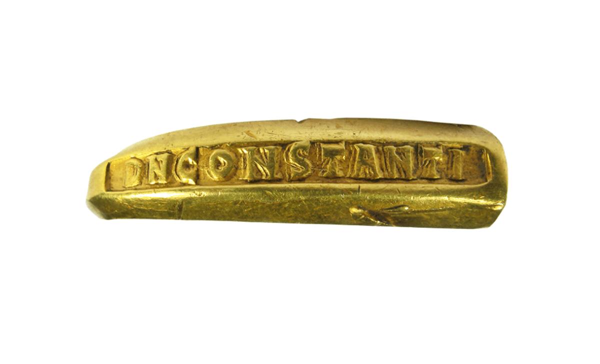 Fragment rzymskiej złotej bransoletki