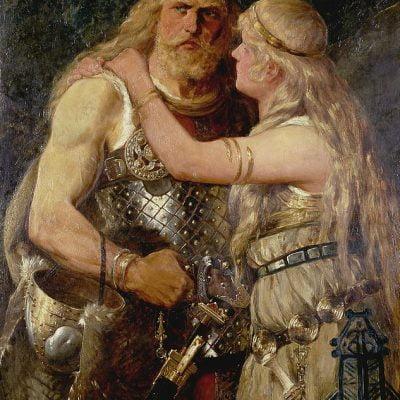 Arminiusz żegna się z żoną