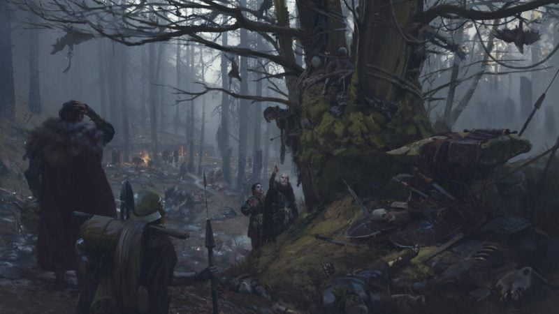 Legioniści Germanika odnajdują pole bitwy w Lesie Teutoburskim