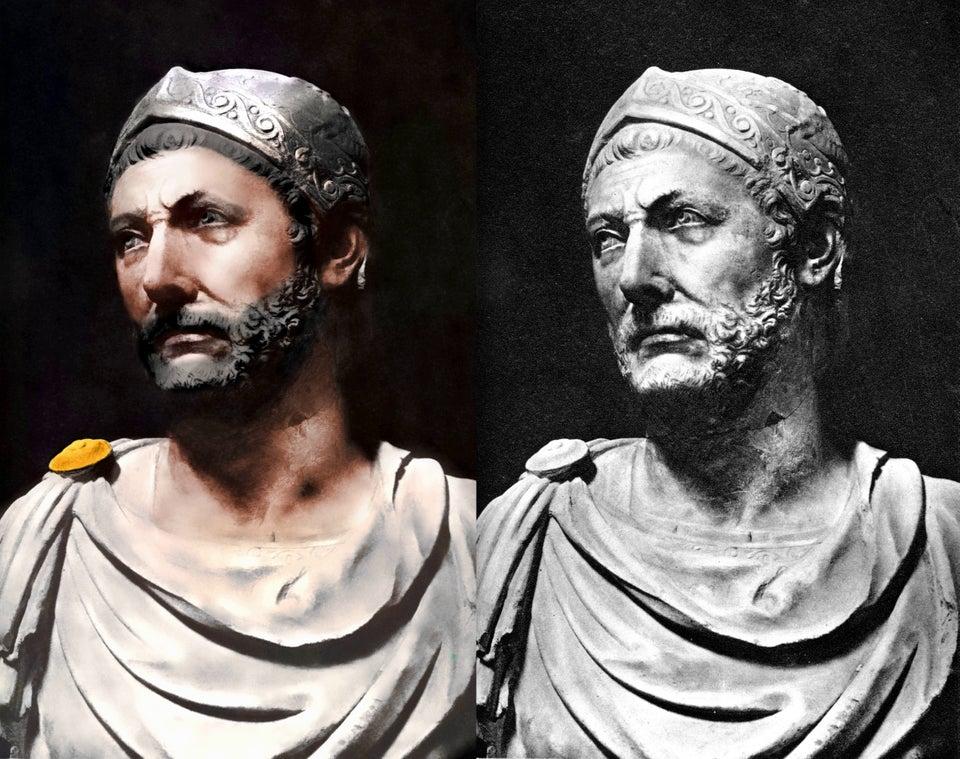 Pokolorowane popiersie Hannibala