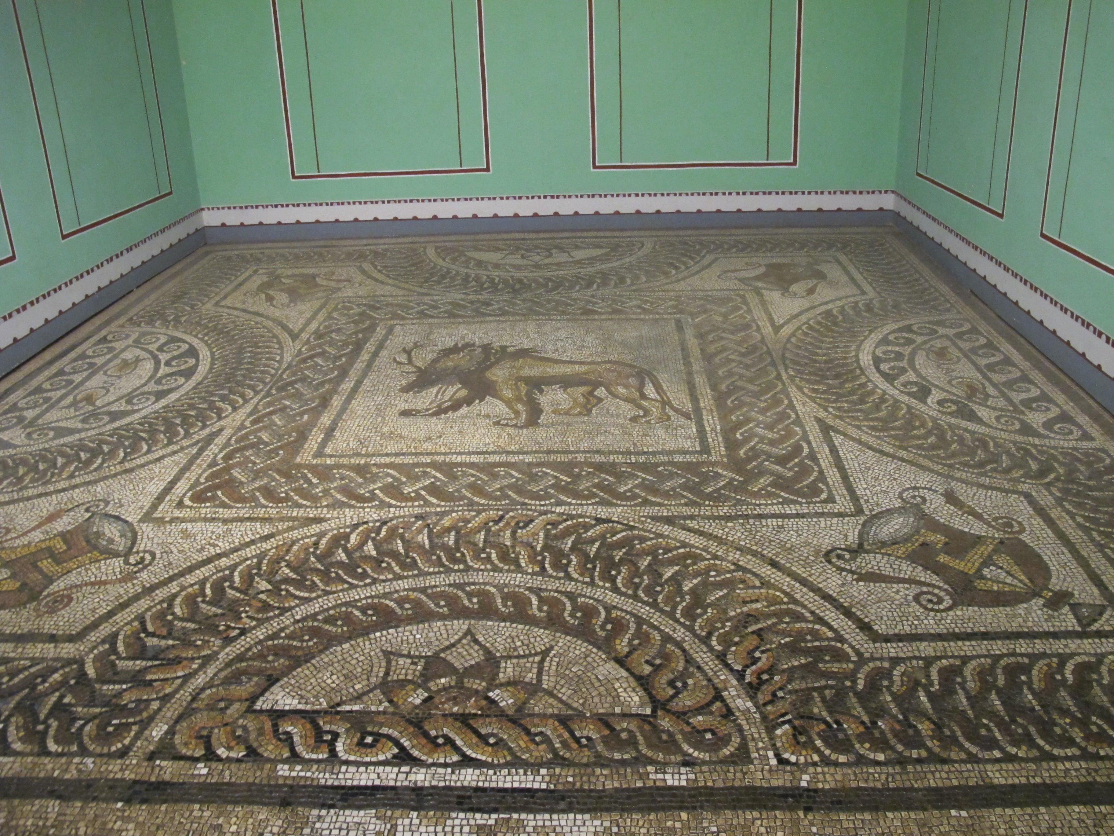 Jedna z mozaik w muzeum Verulamium