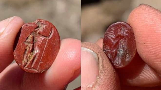 In northern England two Roman gems were discovered