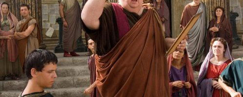 """Ian McNiece jako """"Krzykacz"""" w serialu """"Rzym"""""""