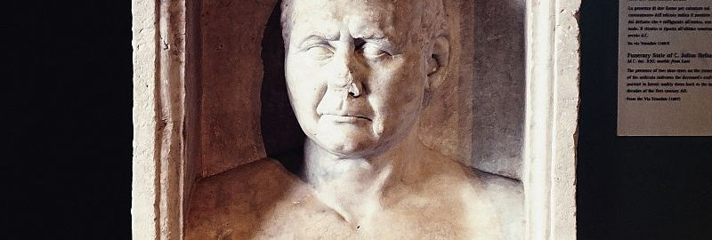 Tombstone of the shoemaker from Centrale Montemartini