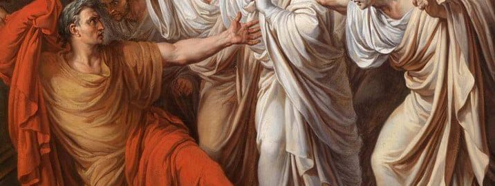 Fragment of the painting The Death of Julius Caesar by Vincenzo Camuccini