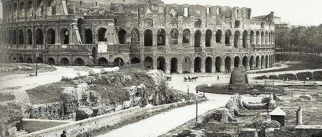 Photo of the Colosseum in 1904