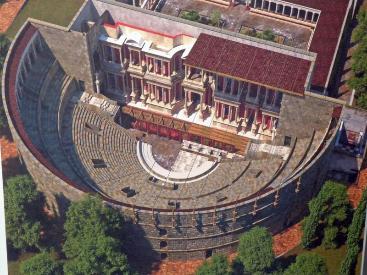 Wizualizacja rzymskiego teatru w Lizbonie