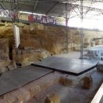 Remains of the Roman theater stands in Lisbon