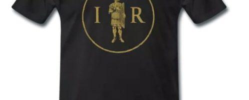 New print showing the initials IMPERIUM ROMANUM and the praetorian