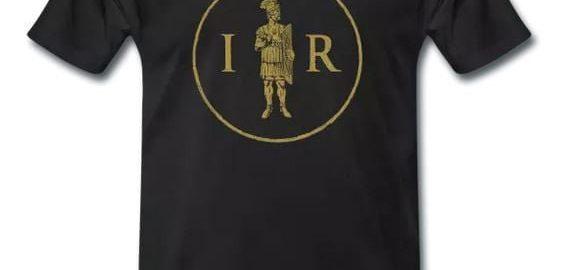 Nowy nadruk ukazujący inicjały IMPERIUM ROMANUM i pretorianina