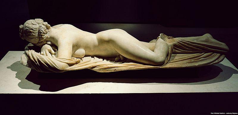 Posąg Hermafrodyty z muzeum Palazzo Massimo Alle Terme w Rzymie