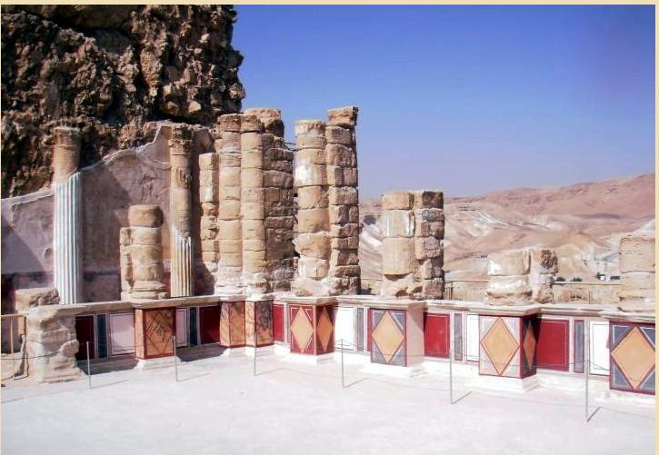Malowidła ścienne pozostałości kolumn w Palacu Północnym