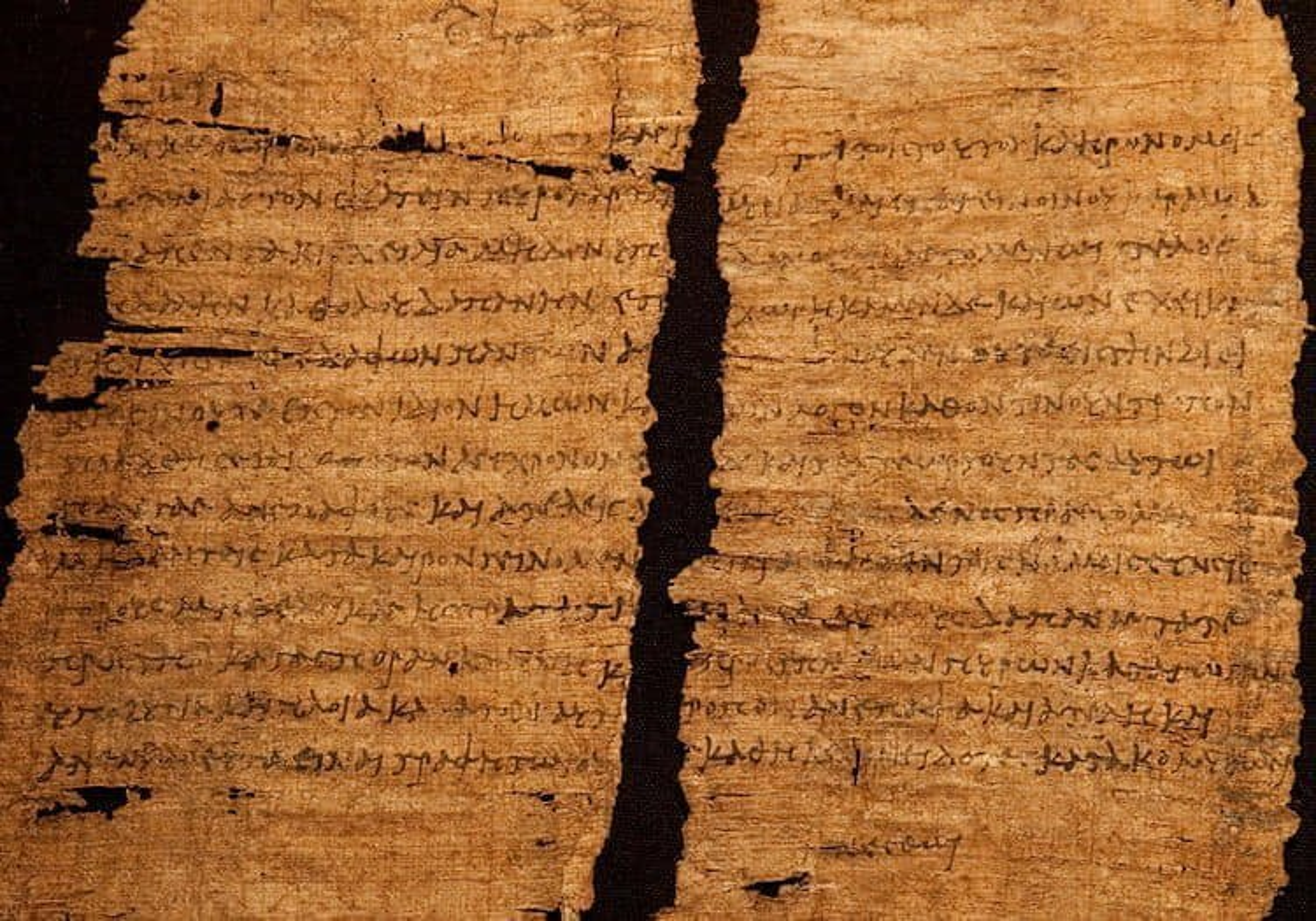 Dokument, na którym złożyła podpis Kleopatra
