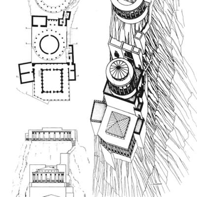 Rekonstrukcja Pałacu Północnego w Masadzie
