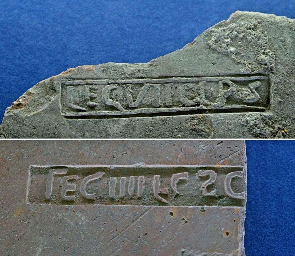 Legion markings on bricks