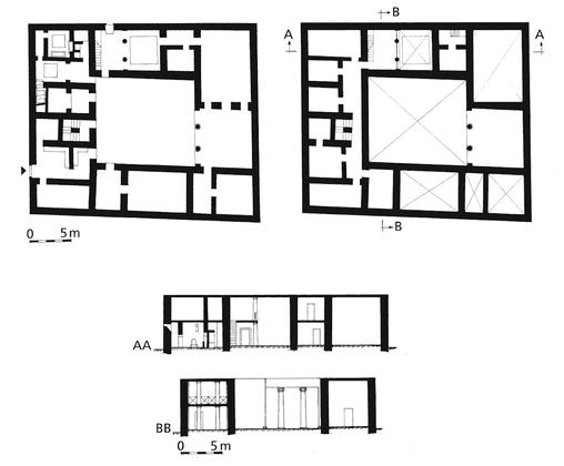 Rekonstrukcja planu Zachodniego Palacu w Masadzie