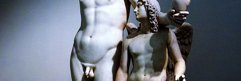 Sculpture of Bacchus and Cupid