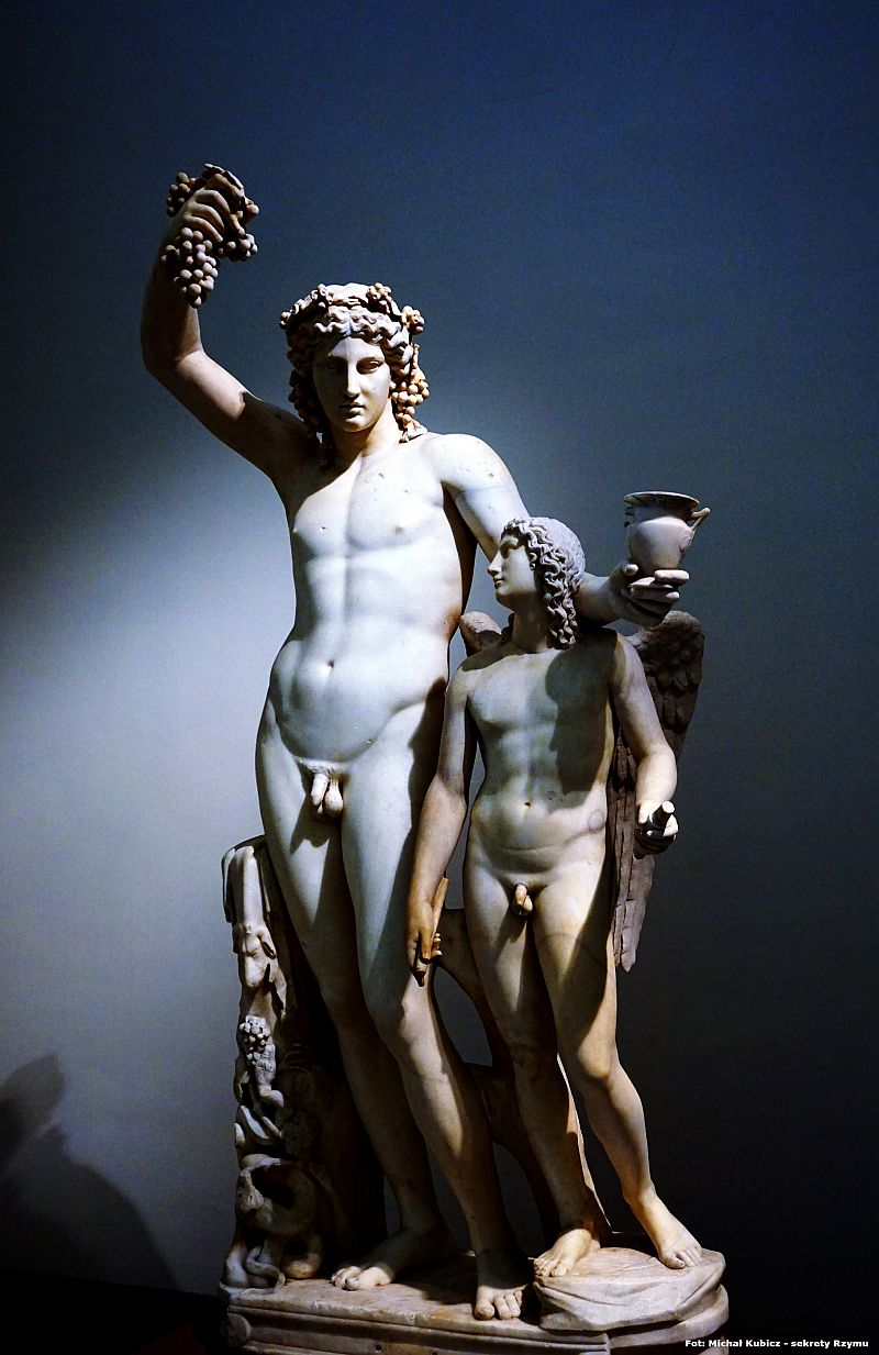 Sculpture of Bacchus and Amor