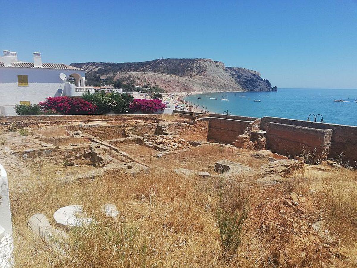 Remains of Roman fish processing center in Praia da Luz