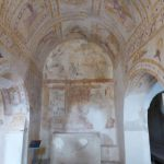 Beautiful paintings on the ceiling on the ground floor of a villa in Sao Cucufate