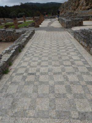 Mozaika odkryta w Conimbriga. Datowana na II-III wiek n.e.