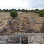 View from the floor of the remains of the thermal baths in Sao Cucufate