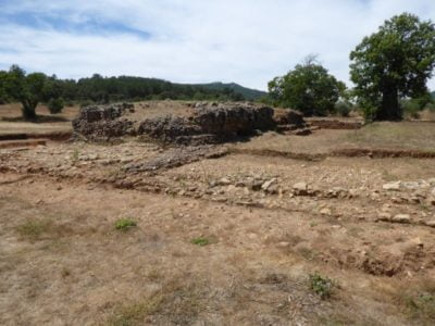 Remains of the forum and temple in Ammaia