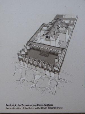 Rekonstrukcja łaźni z okresu dynastii Flawiuszów i panowania Trajana