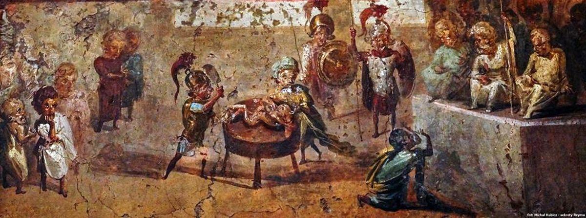 """Fresk rzymski ukazujący """"sąd Salomona""""?"""
