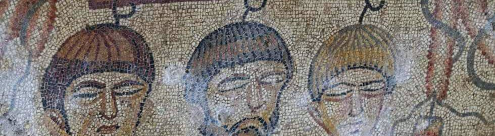 Mosaic detail showing the myth of Hippodameya