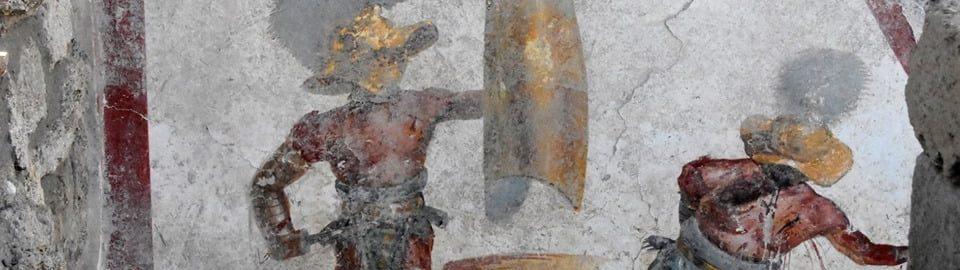 W Pompejach odkryto fresk ukazujący walkę gladiatorów
