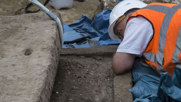 Roman sarcophagus was discovered in 2017 in London