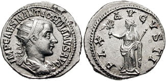 Moneta cesarza Gordiana III
