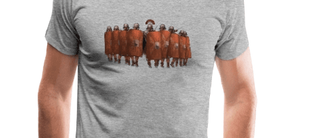 The attacking legionnaire unit - already on a T-shirt!
