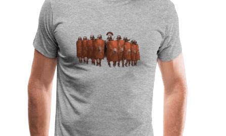 Nacierający oddział legionistów - już na koszulce!