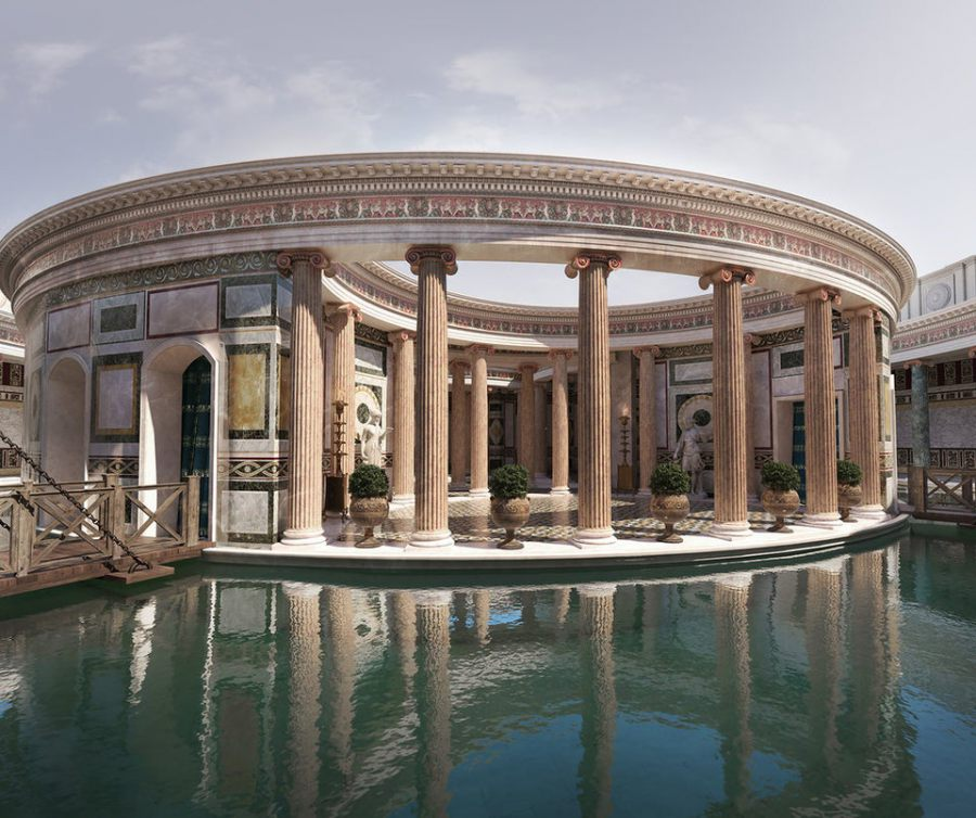Reconstruction of Maritime Theater in Hadrian's villa