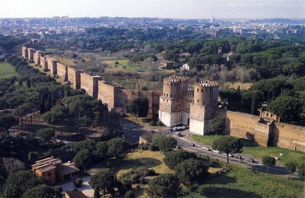 Section of Aurelian Walls