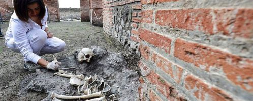 W Pompejach odkryto szczątki dziecka
