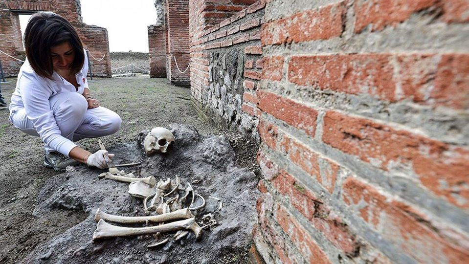 Remains of child were discovered in Pompeii