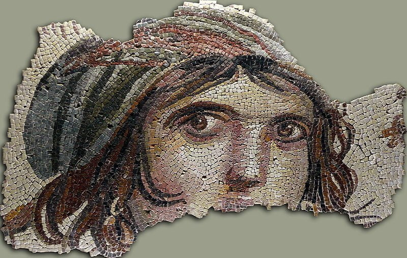 Gypsy at the Zeugma Mosaic Museum in Turkey