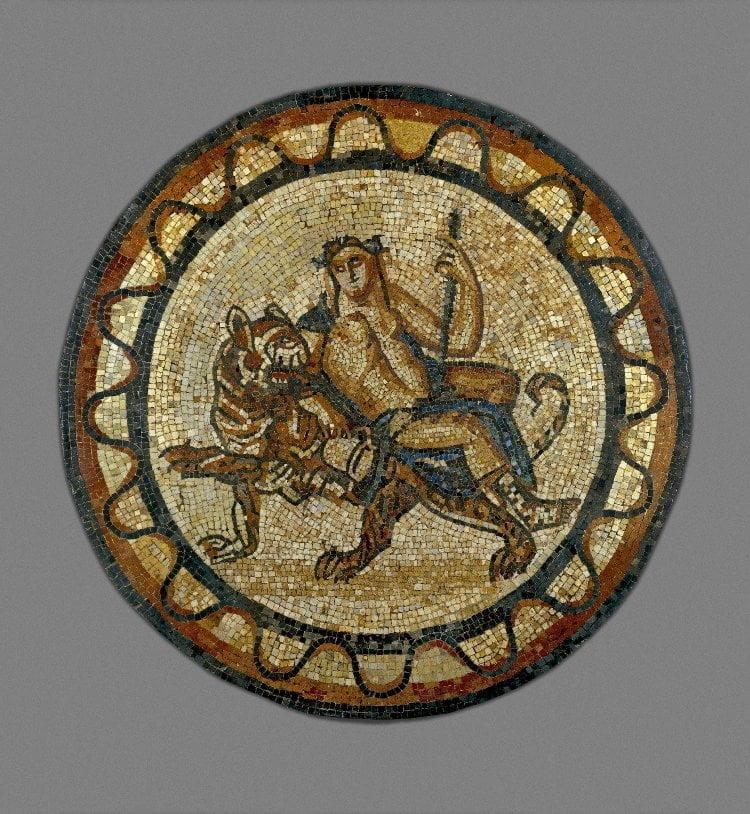 Bachus na tygrysie, The British Museum