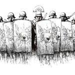 Nacierający oddział legionistów