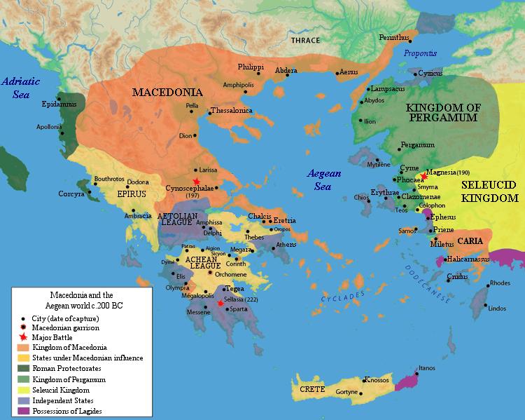 Świat grecki przed wybuchem II wojny macedońskiej (II wiek p.n.e.)